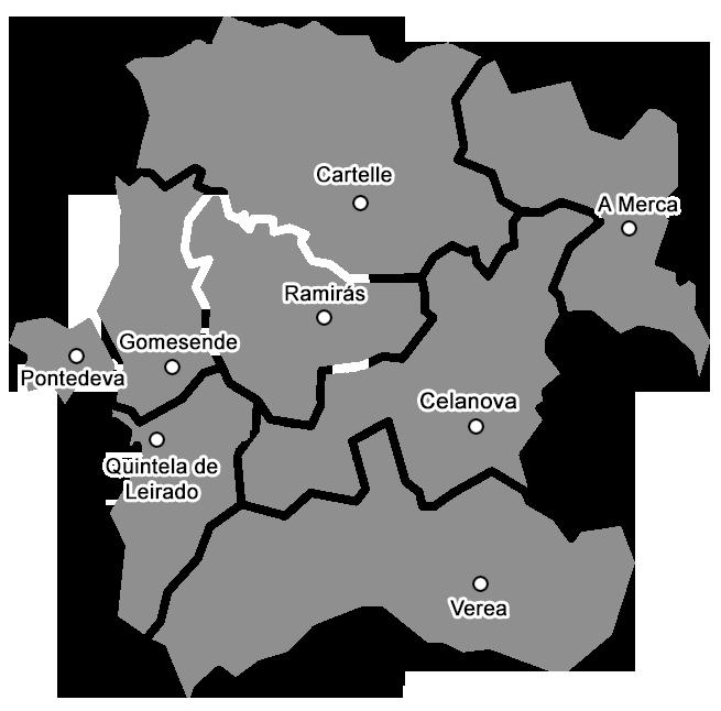 Mapa da Mancomunidade